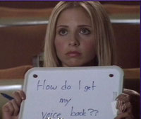 Buffy is sprakeloos in The Hush